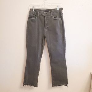 MOTHER JEANS The Insider Crop Step Fray Size 28